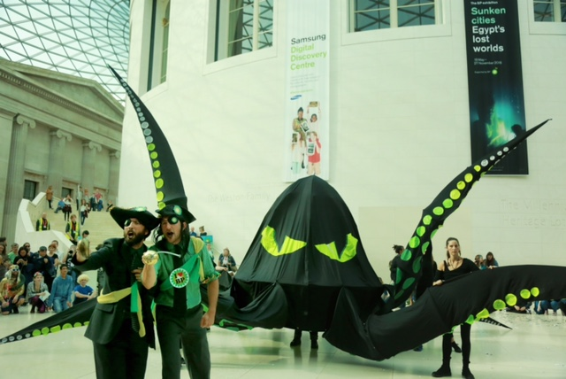 BP splashmob protest in British Museum 1 - credit Kristian Buus.JPG