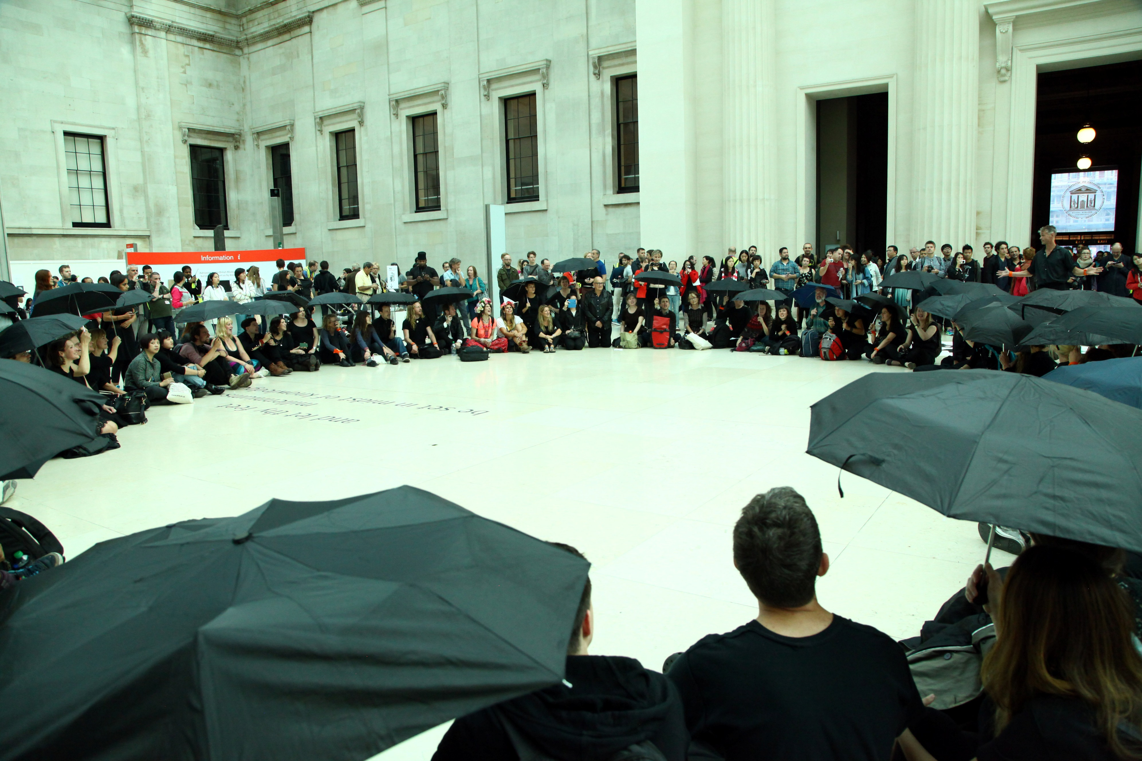 Campaigners inside the British Museum, September 2015