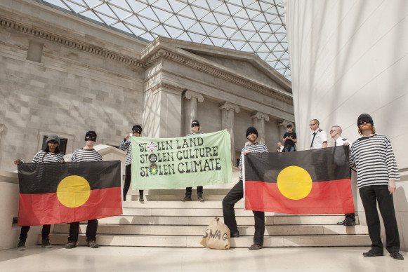 Protest at BP-sponsored Indigenous Australia exhibition